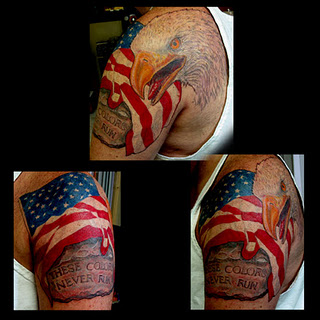 American Flag  Eagle Tattoos on Eagle American Flag Tattoo