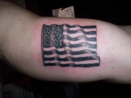 International Flag Black Tattoo Design