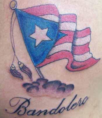 Puerto rico flag tattoo for Henna tattoo in puerto rico