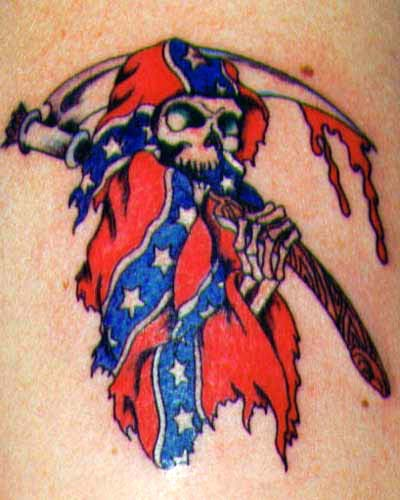 Rebel Flag Reaper Tattoo
