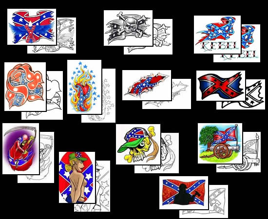 rebel flag rose tattoo designs cross tattoos. Black Bedroom Furniture Sets. Home Design Ideas