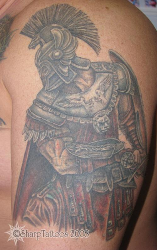 Warrior Tattoo Grey Ink Greek Warrior Tattoo Warriors Tattoo 2 Grey ...