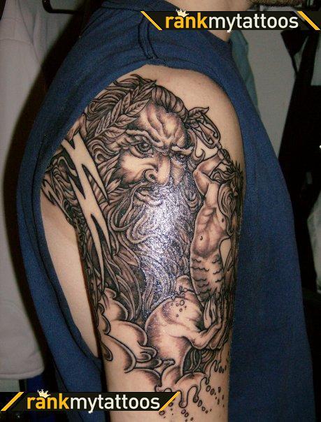 Tribal Greek Tattoo On Man Right Half Sleeve