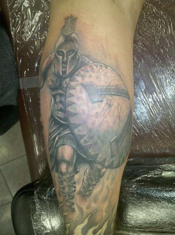 spartan warrior greek tattoo on sleeve. Black Bedroom Furniture Sets. Home Design Ideas