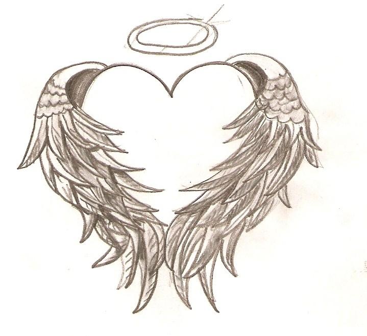 angel wings heart tattoo design rh tattoostime com angel wings hugging heart tattoo angel wings hugging heart tattoo