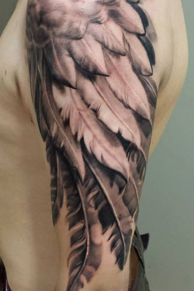 Angel Wing Tattoos for Men On Arm