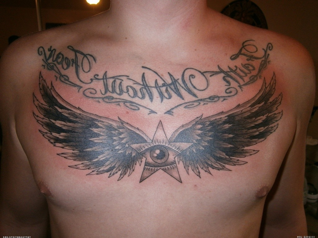 Angel Wings Tattoo For Guys On Chest