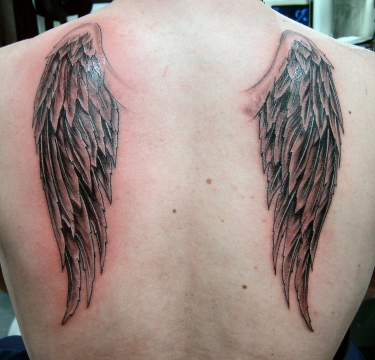 Angel Wings Shoulders Tattoos: Wings Tattoo Images & Designs
