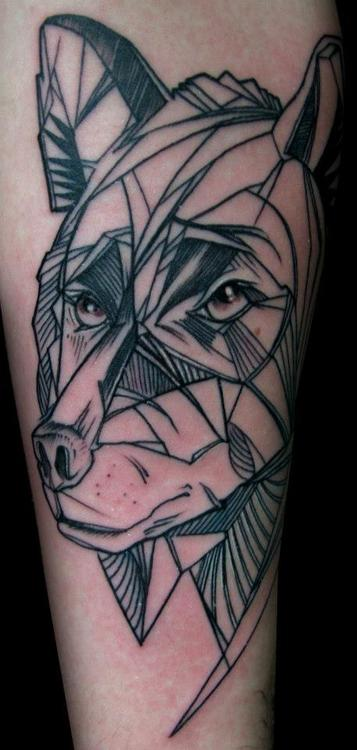 Abstract wolf tattoo for Wolf head tattoos