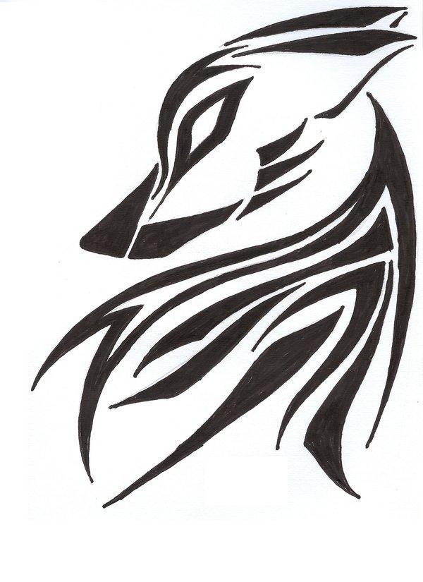 Lone Wolf Symbol Tattoo