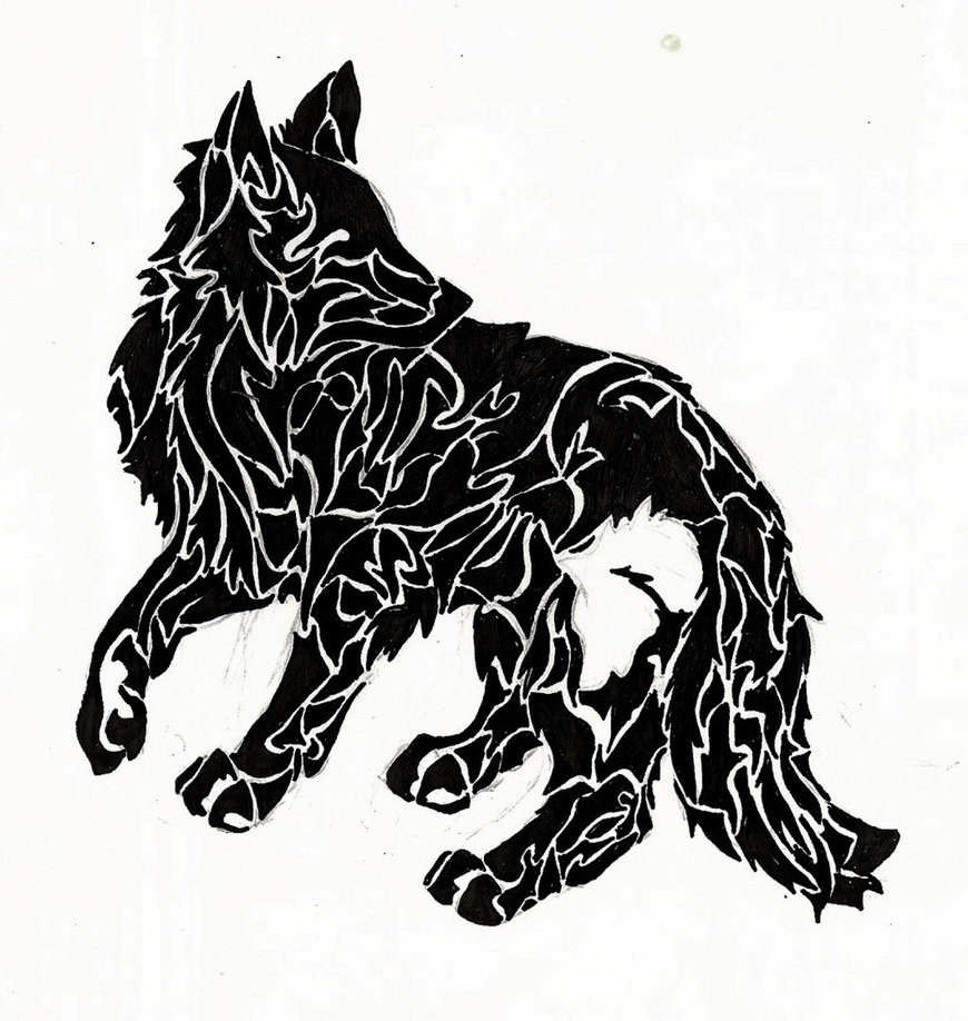 black and white wolf tattoos. Black Bedroom Furniture Sets. Home Design Ideas