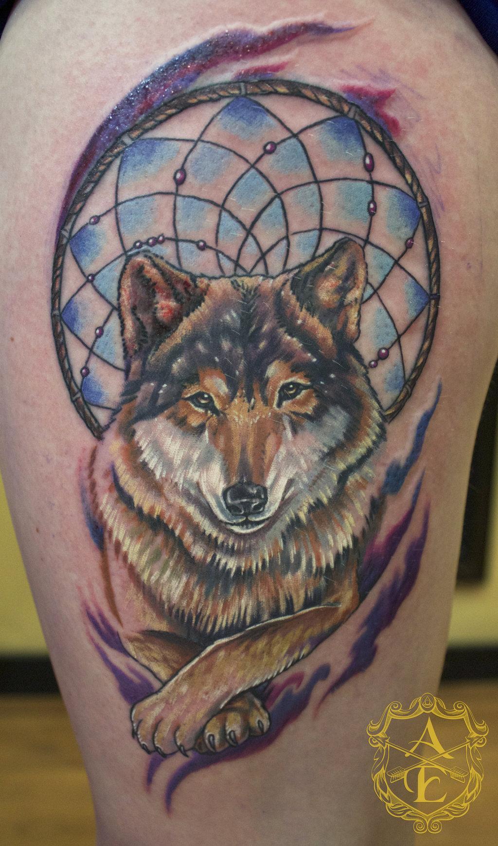 Wolf tattoo dreamcatcher - photo#23
