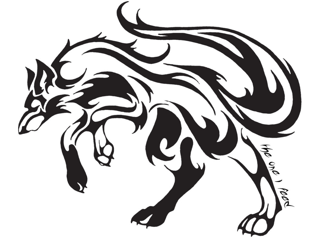 Wolf tattoo images designs for Tribal wolf tattoo