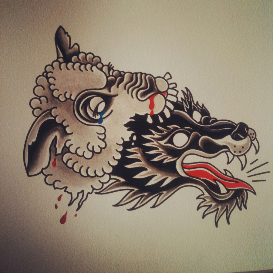 Wolf tattoo images designs for Wolf tattoo traditional