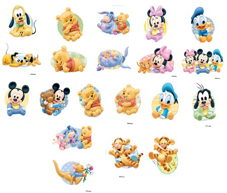 Vectores free disney babies imagui for Cartoon baby tattoos