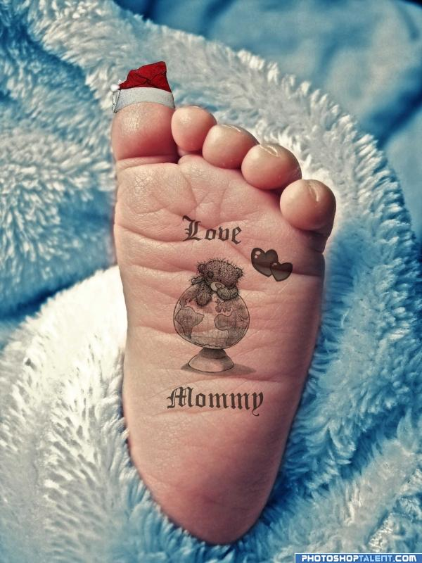 Baby tattoo images designs for Tattoos of baby feet
