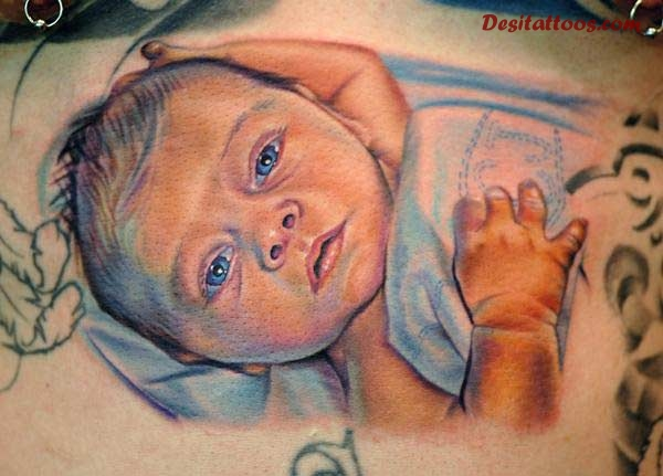 Cute baby tattoo for Cute baby tattoos