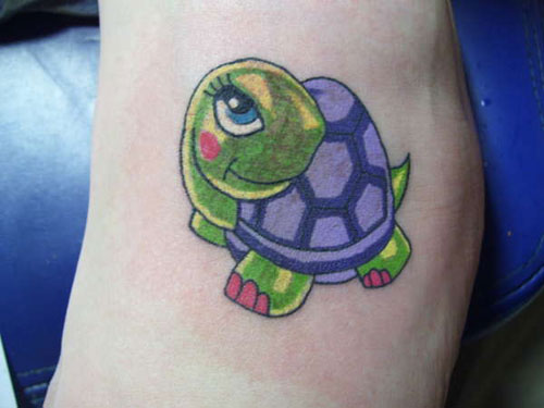 Mertle Turtle Animated Tattoo