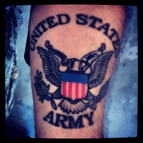 army emblem tattoo the image kid has it. Black Bedroom Furniture Sets. Home Design Ideas