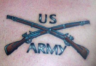 US Army Guns Tattoo Usmc Crossed Rifles Tattoo