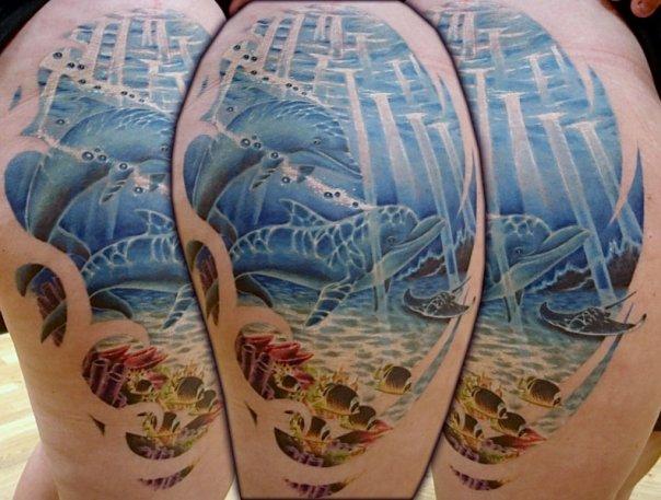 Aqua Tattoo Images & Designs