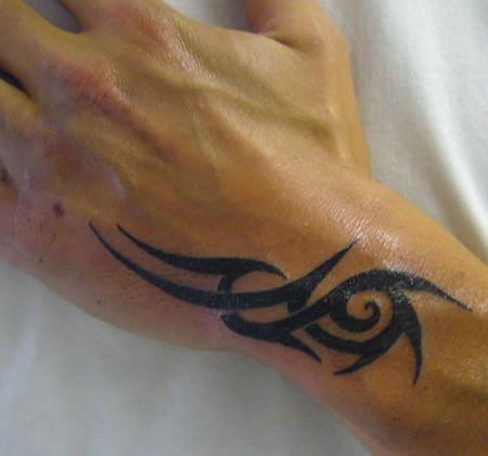 Amazing black tribal arm tattoo for men for Hand arm tattoo