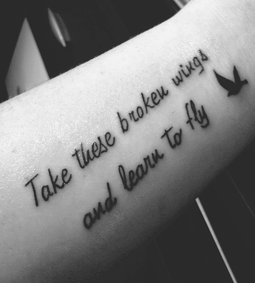 Arm Quote Tattoo