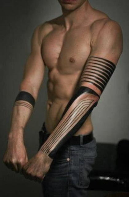 Best Black Ink Arm Tattoos For Men