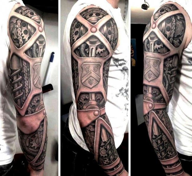 biomechanical 3d arm tattoos. Black Bedroom Furniture Sets. Home Design Ideas