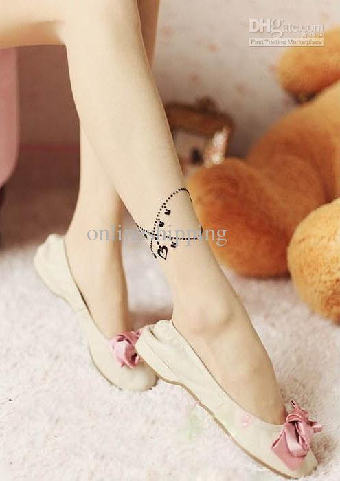 b2343106b Black Heart Ankle Tattoo For Girls