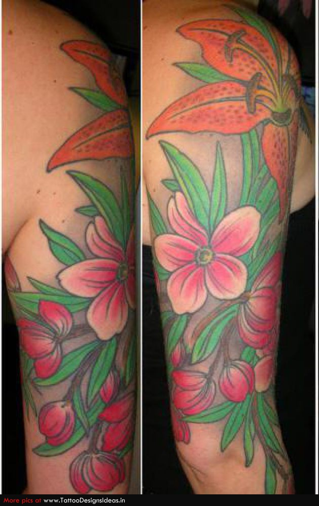 Arm tattoo images designs for Flower tattoos on arm