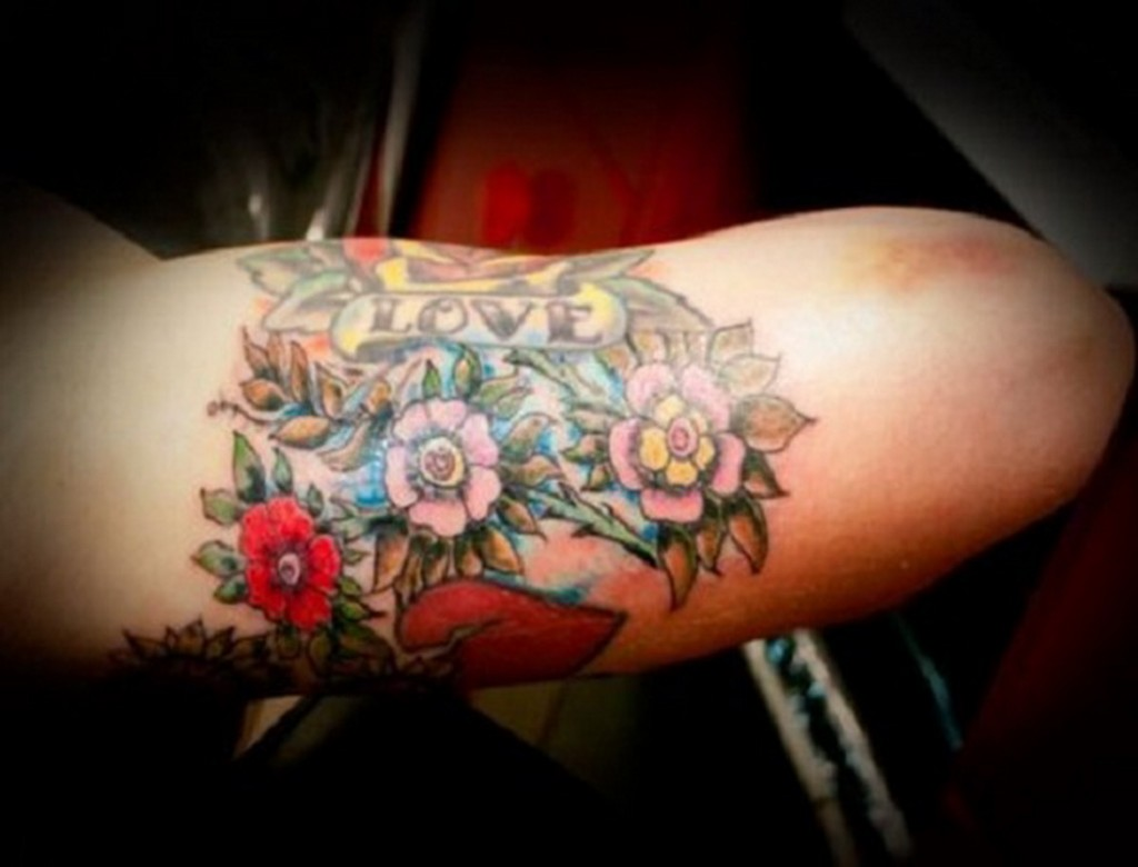 Flower Tattoo On The Inner Forearm Tattoo Artist Doy: Arm Tattoo Images & Designs