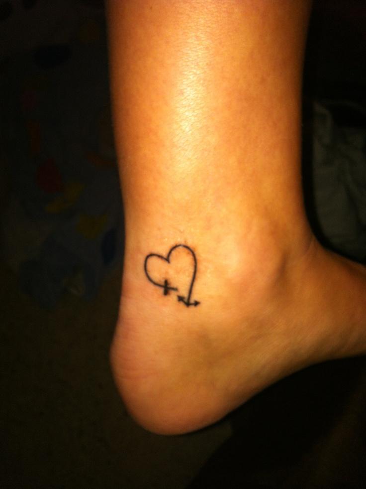 heart tattoos by kenadi cross heart wrist tattoos cross and the heart    Heart Tattoos On Ankle