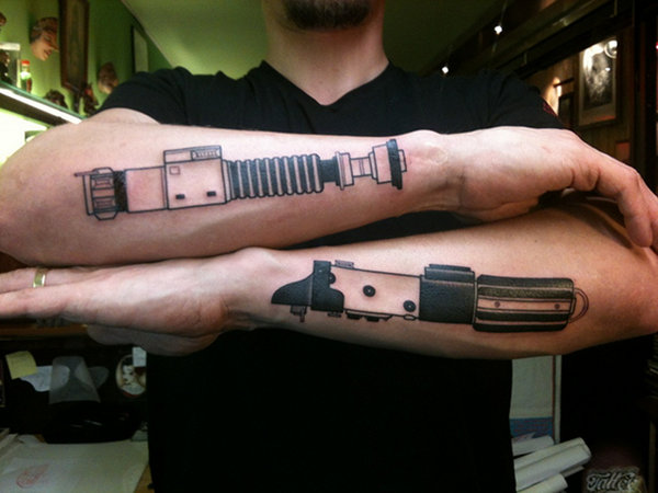 Lightsaber Arm Tattoos