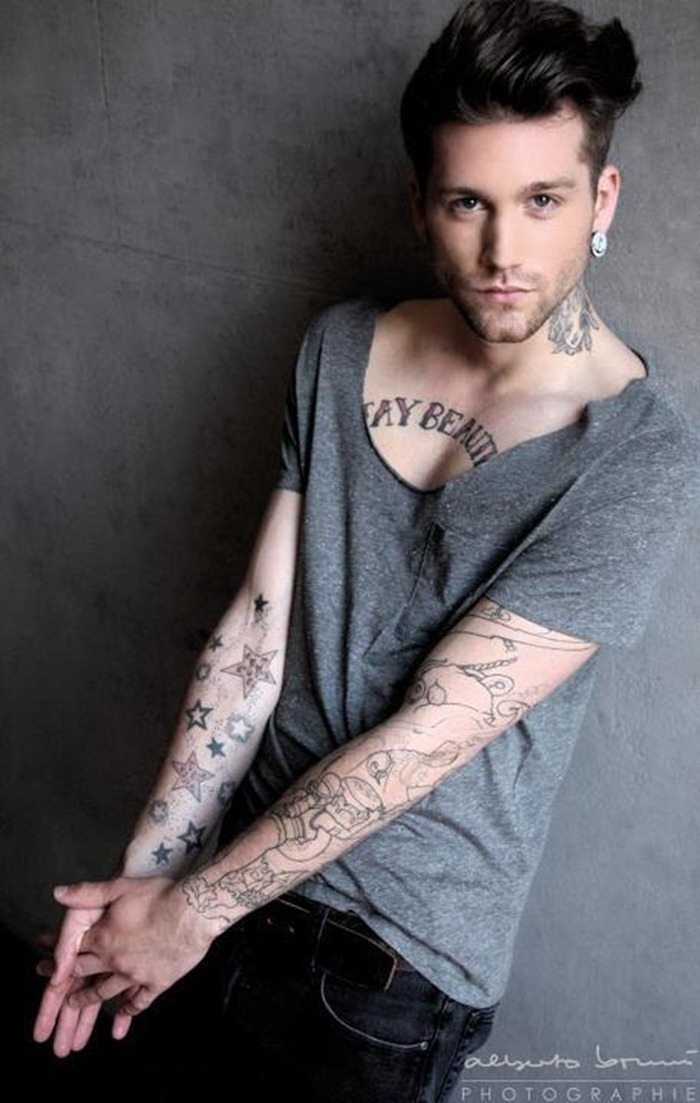 Stars Tattoos On Arm For Men