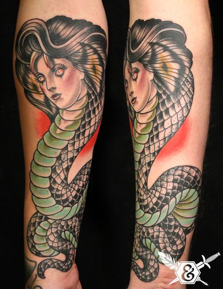 Womens Arm Tattoo Snake: Woman Snake Arm Tattoos