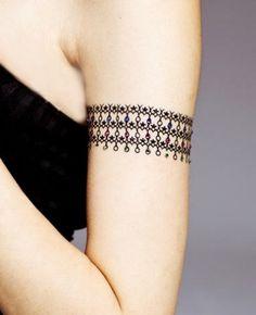 Amazing Girl With Armband Tattoo