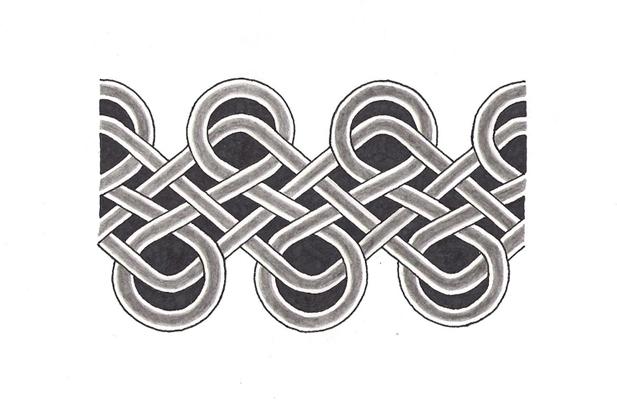 655f8003bc346 Attractive Grey Ink Celtic Armband Tattoo Design
