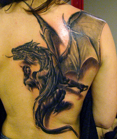 Best asian dragon tattoo on back for Best back tattoos