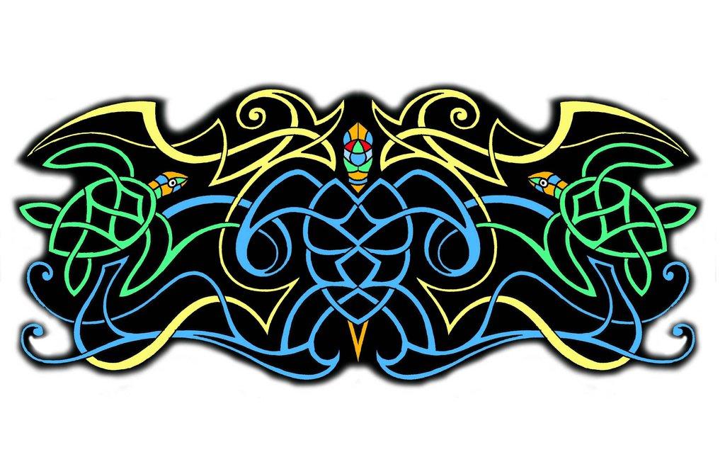4aa35c5396f50 Colored Celtic Armband Tattoo Design