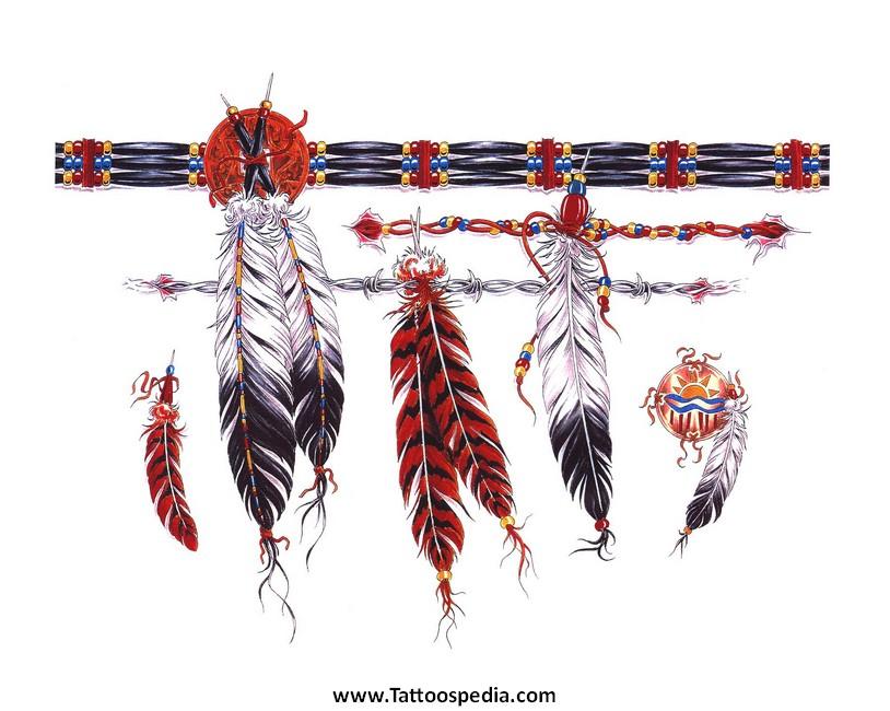 feathers armband tattoo design. Black Bedroom Furniture Sets. Home Design Ideas