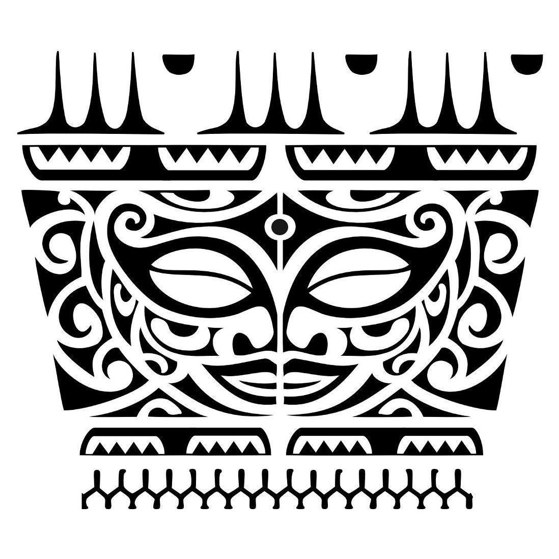Maori Face Armband Tattoo Design