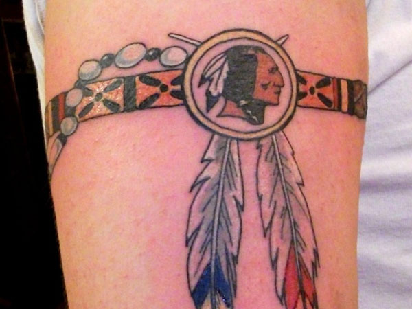 b01a60140 Native Indian Armband Tattoo On Bicep