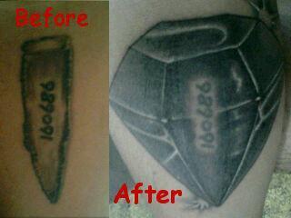 Ripped Skin Tattoo Covered With Diamond Tattoo