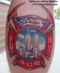 Fire Fighter Year Tattoo
