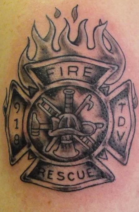 Fire Rescue Tattoo