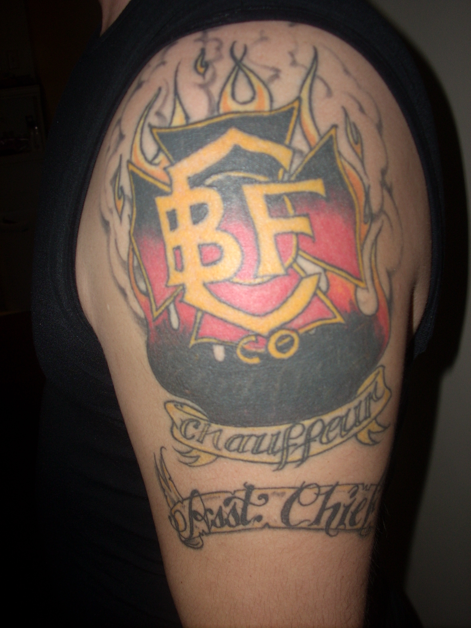 Misc.Christmas Fire Fighter Tattoo