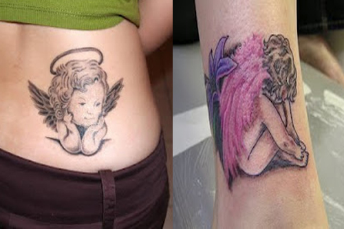 Tattoo Images of Baby Angels Baby Angel Girls Tattoos