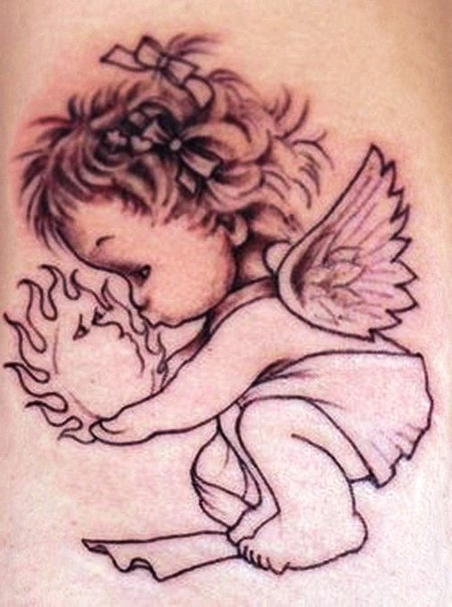 Tattoo Images of Baby Angels Baby Angel Wings Tattoo