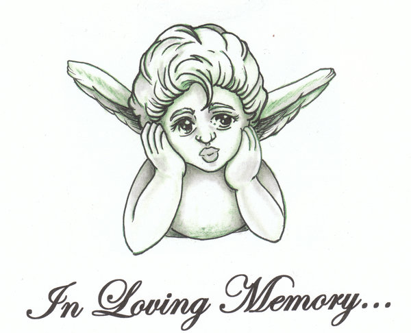 In Loving Memory Baby Angel Tattoo Design